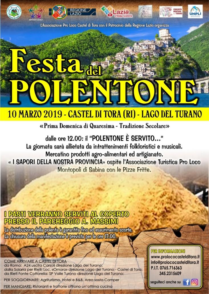 A Castel di Tora La Festa del Polentone: nella prima domenica di Quaresima