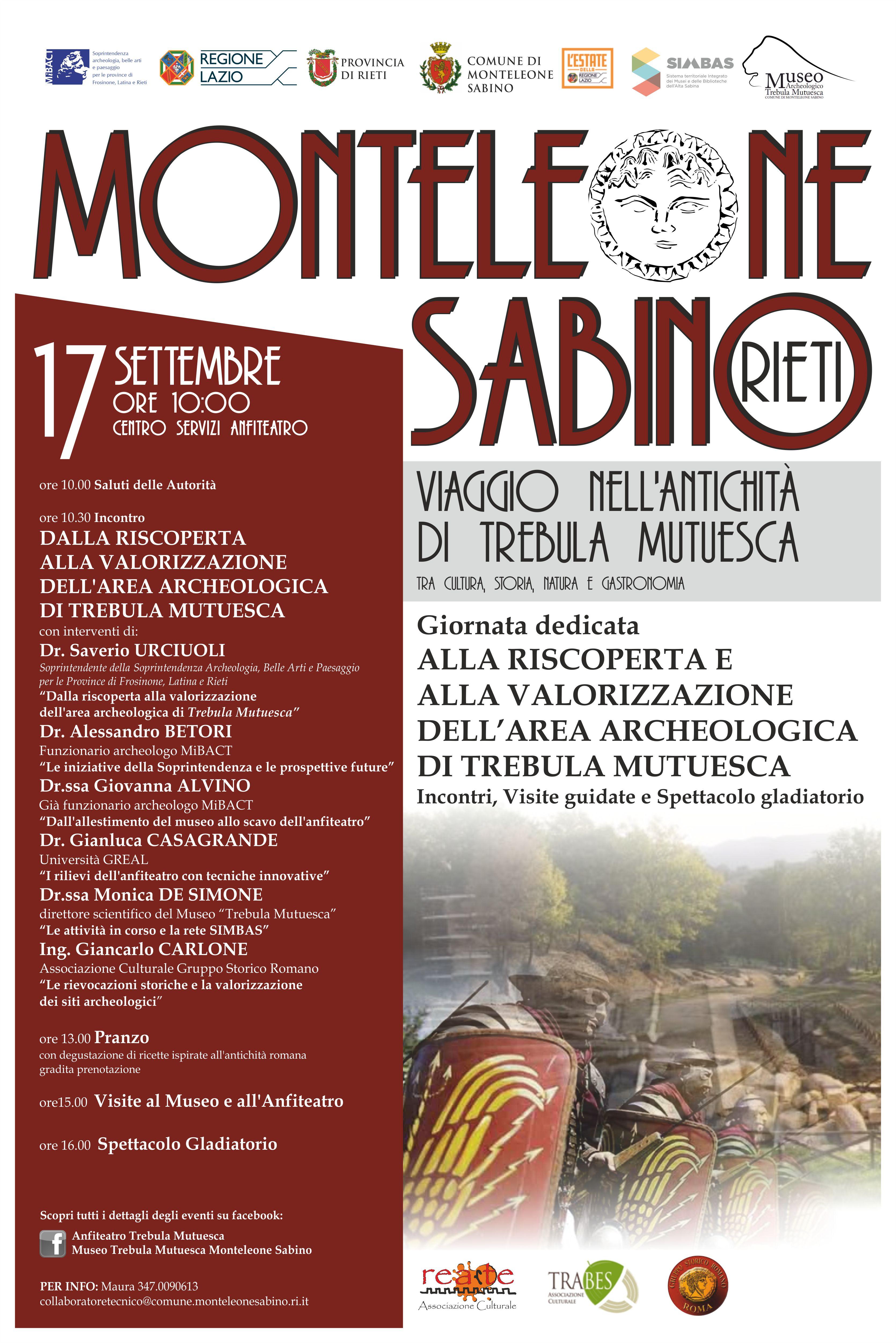 A Monteleone Sabino una giornata speciale: il 17 agosto