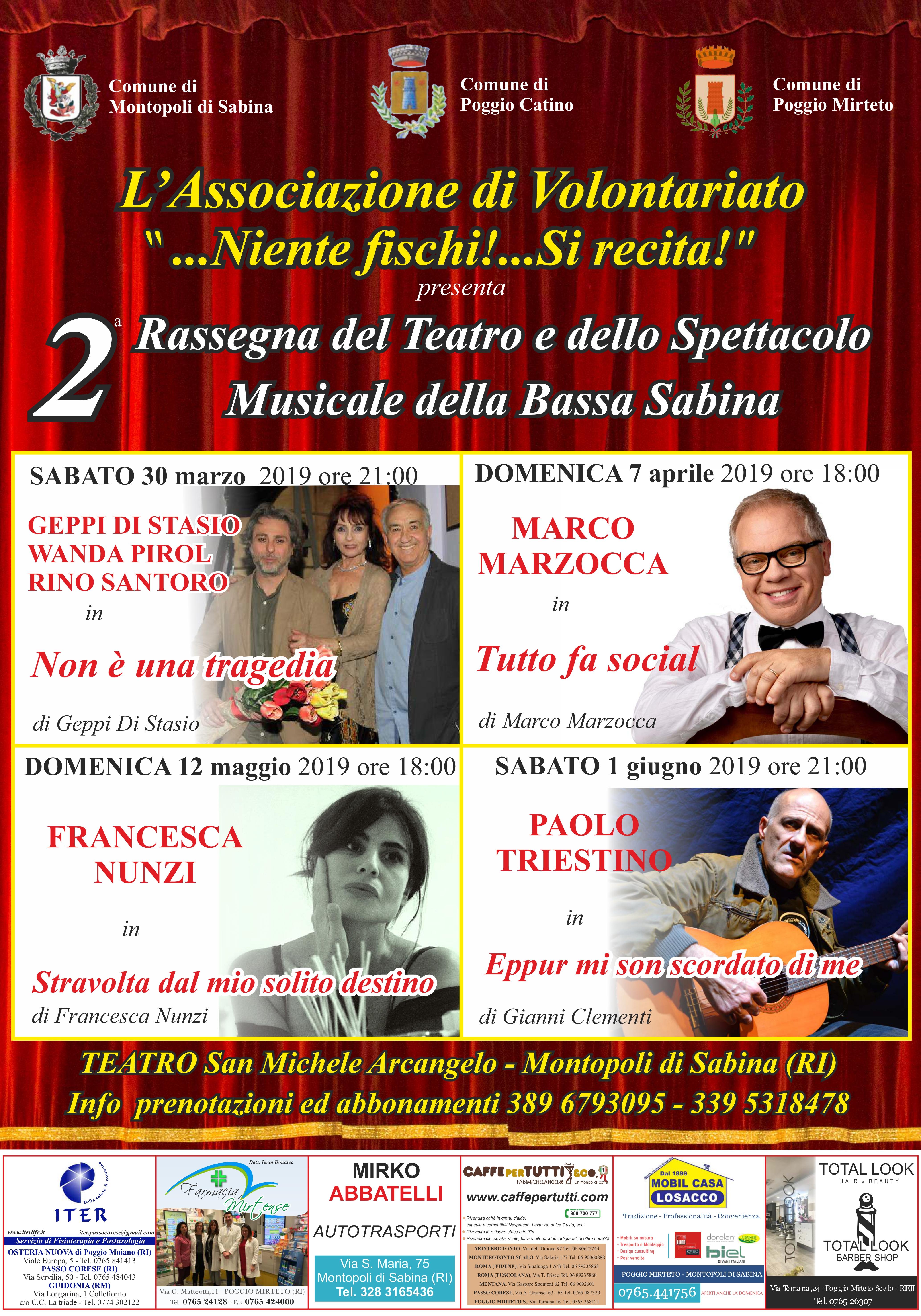 Comune Di Montopoli Di Sabina 2^ rassegna del teatro e dello spettacolo musicale della