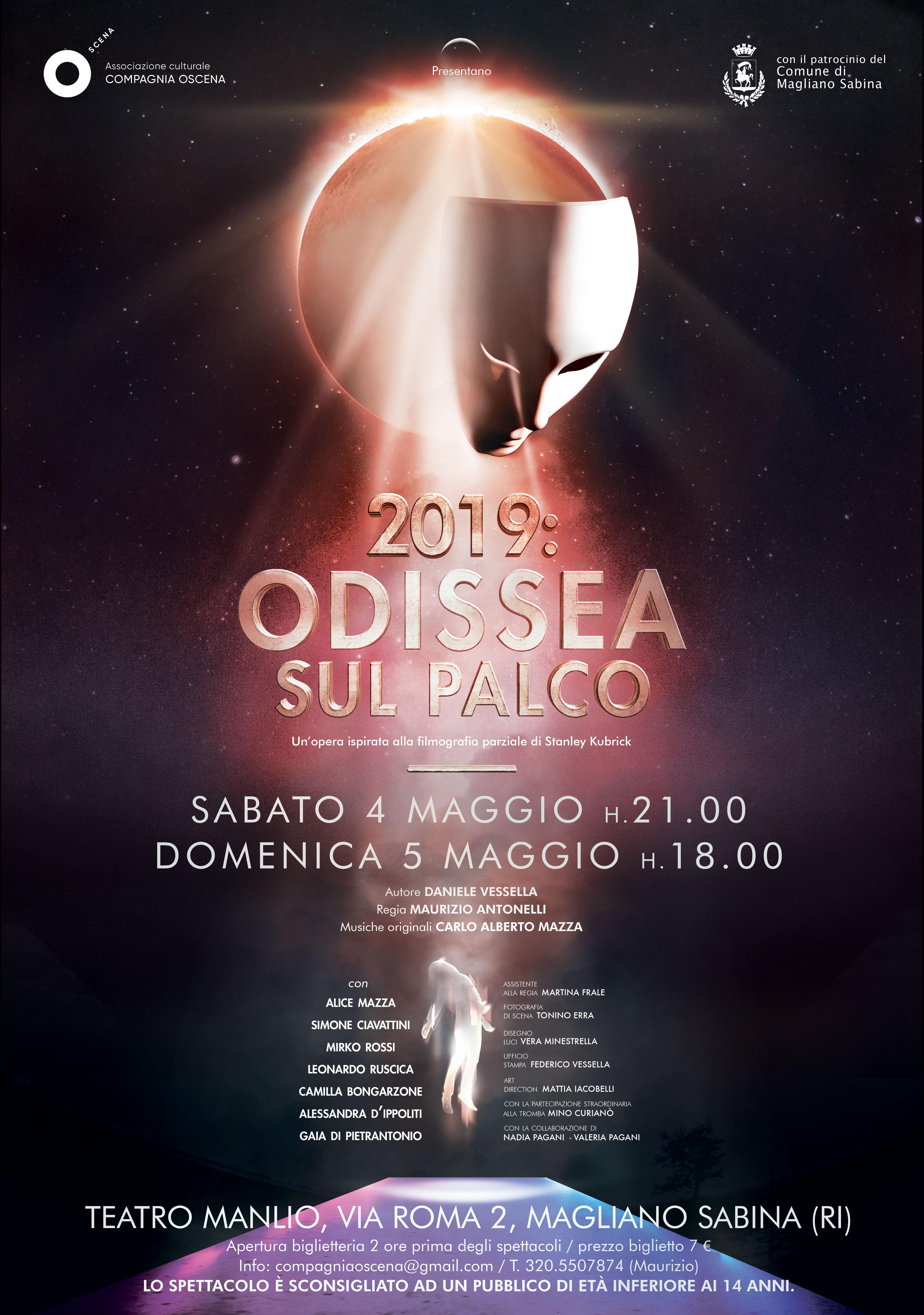 """A Magliano Sabina lo spettacolo """"2019: Odissea sul palco"""""""