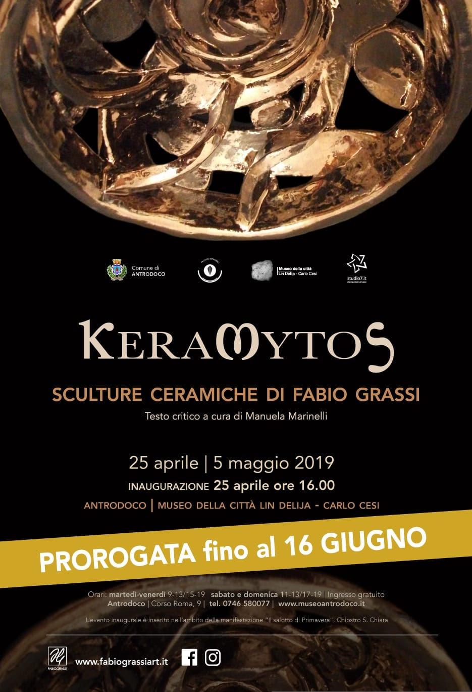 Keramitos di Fabio Grassi: ad Antrodoco fino al 16 giugno