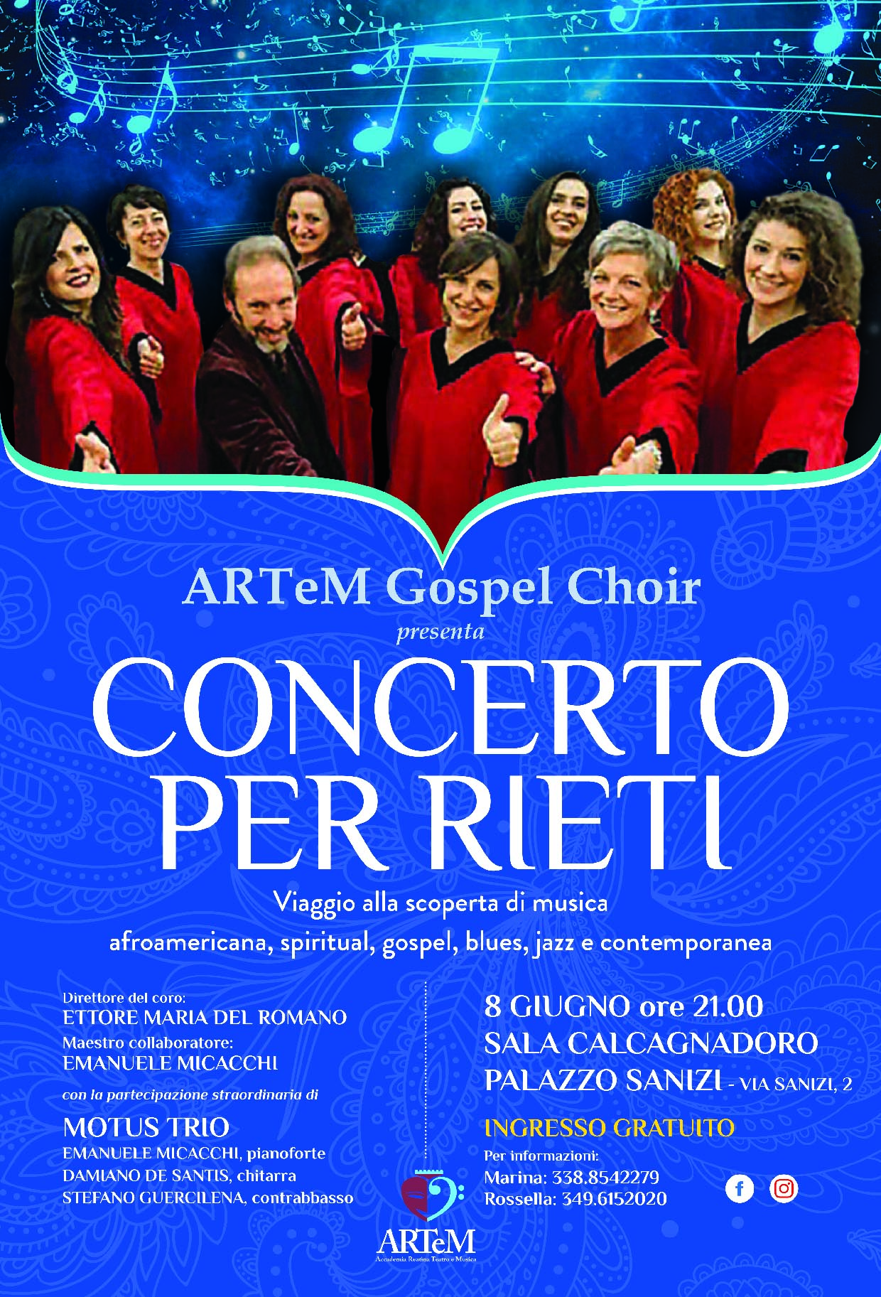 A Rieti l'8 giugno il concerto Artem Gospel Choir