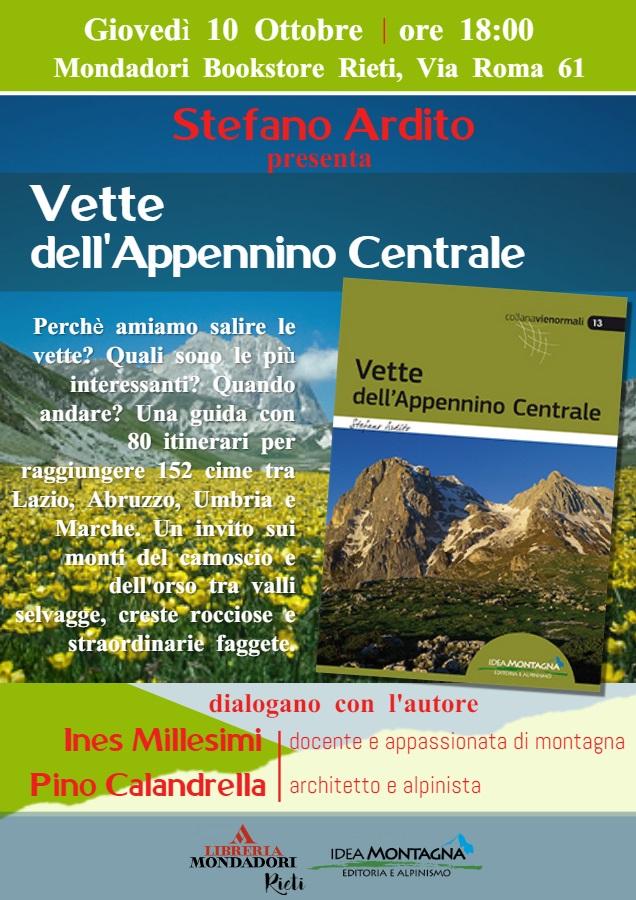 A Rieti presentazione del libro VETTE dell'Appennino Centrale